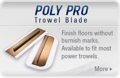 Poly Pro Plastic Trowel Blade